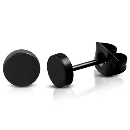 Best Stainless Steel Illusion Round Circle Button Stud Post Earrings deal