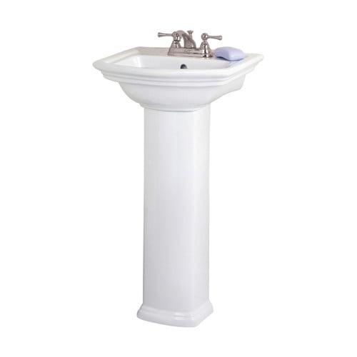Bathroom Sinks Walmart barclay washington 460 18'' pedestal bathroom sink with overflow