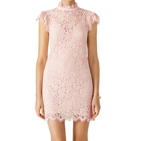 Rachel Zoe New Pink Blush Women S Size 0 Sheath Kara Lace Dress