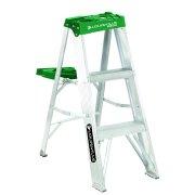 Louisville Ladder AS4003 3 ft. Aluminum Step Ladder, Type II, 225 lbs. Load Capacity