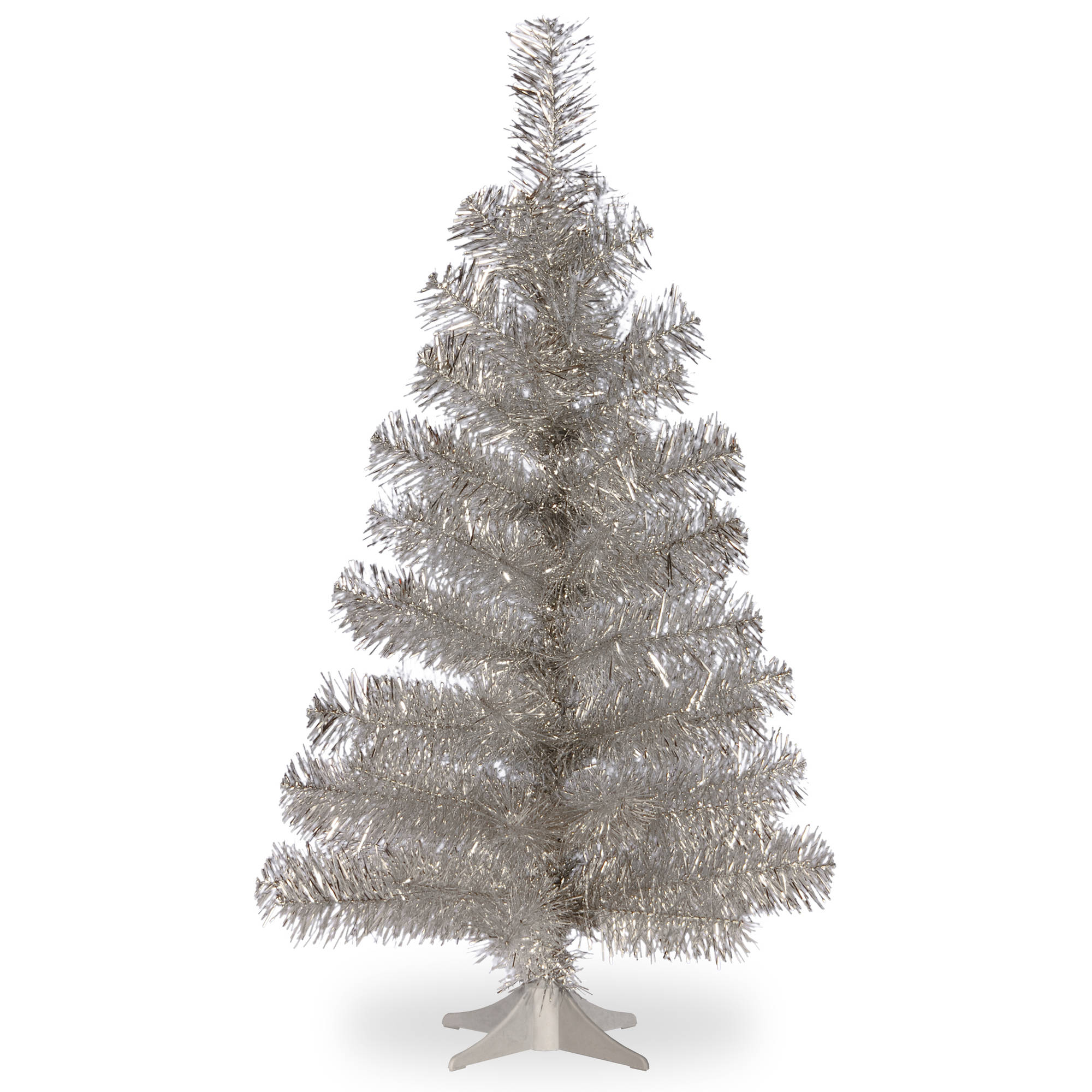 3' Silver Tinsel Tree