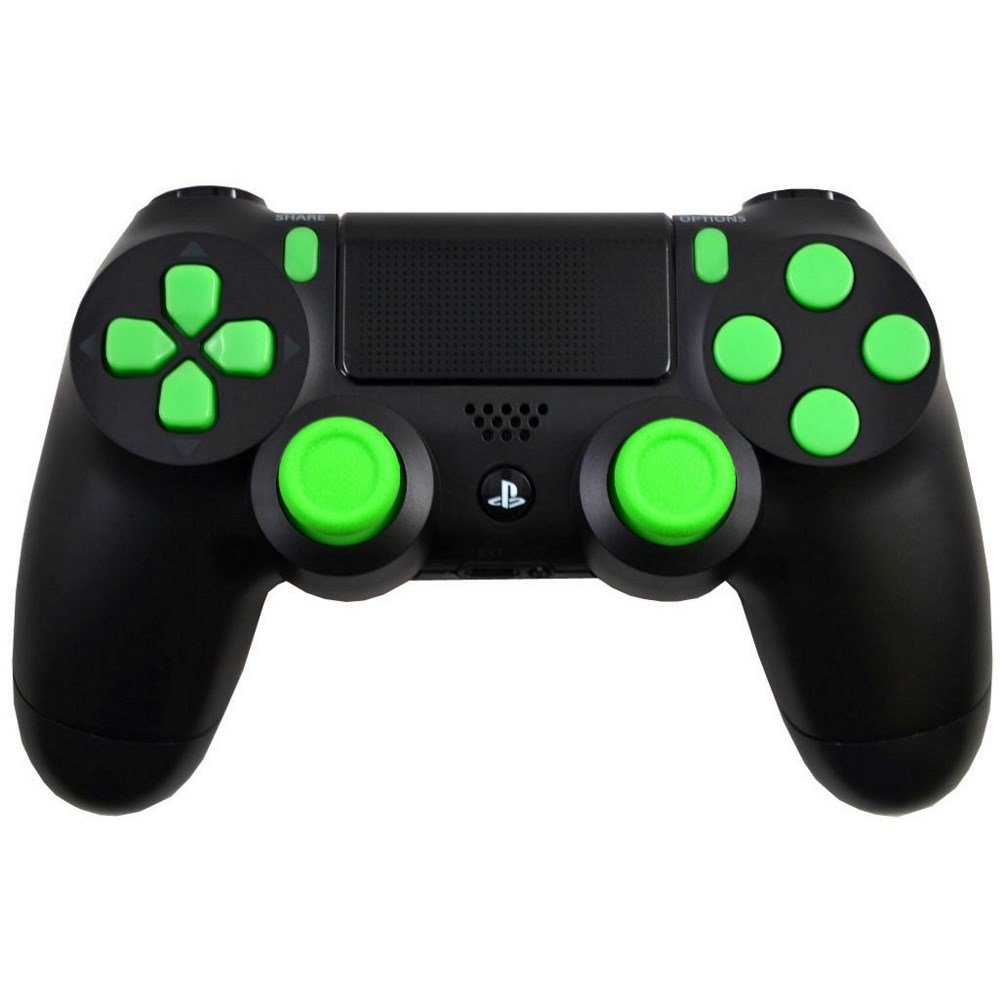 Green Out Playstation 4 PS4 Modded Controller for ALL Games, Including Call of Duty Infinite Warfare, by Midnight Modz