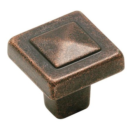 Forgings 1 1 8 in 29 mm Length Rustic Bronze Cabinet Knob