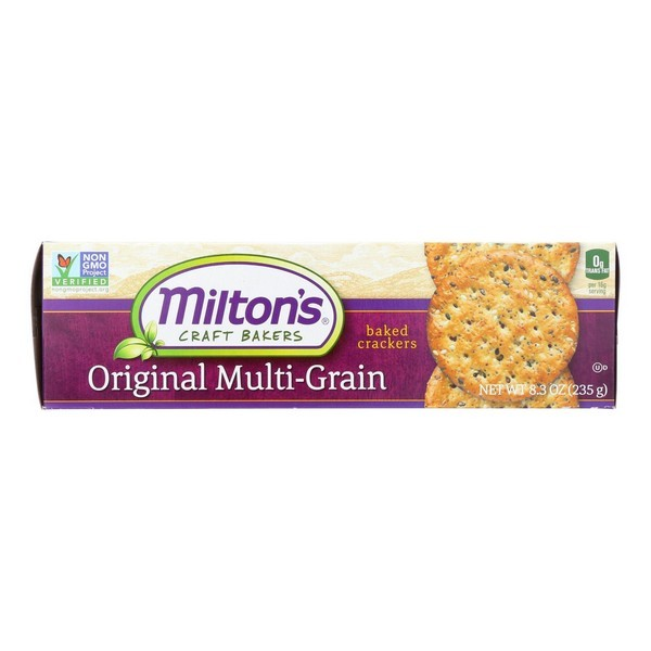 Miltons Organic Baked Snack Crackers - Original Multi-grain - Pack of 12 - 8.3 Oz.