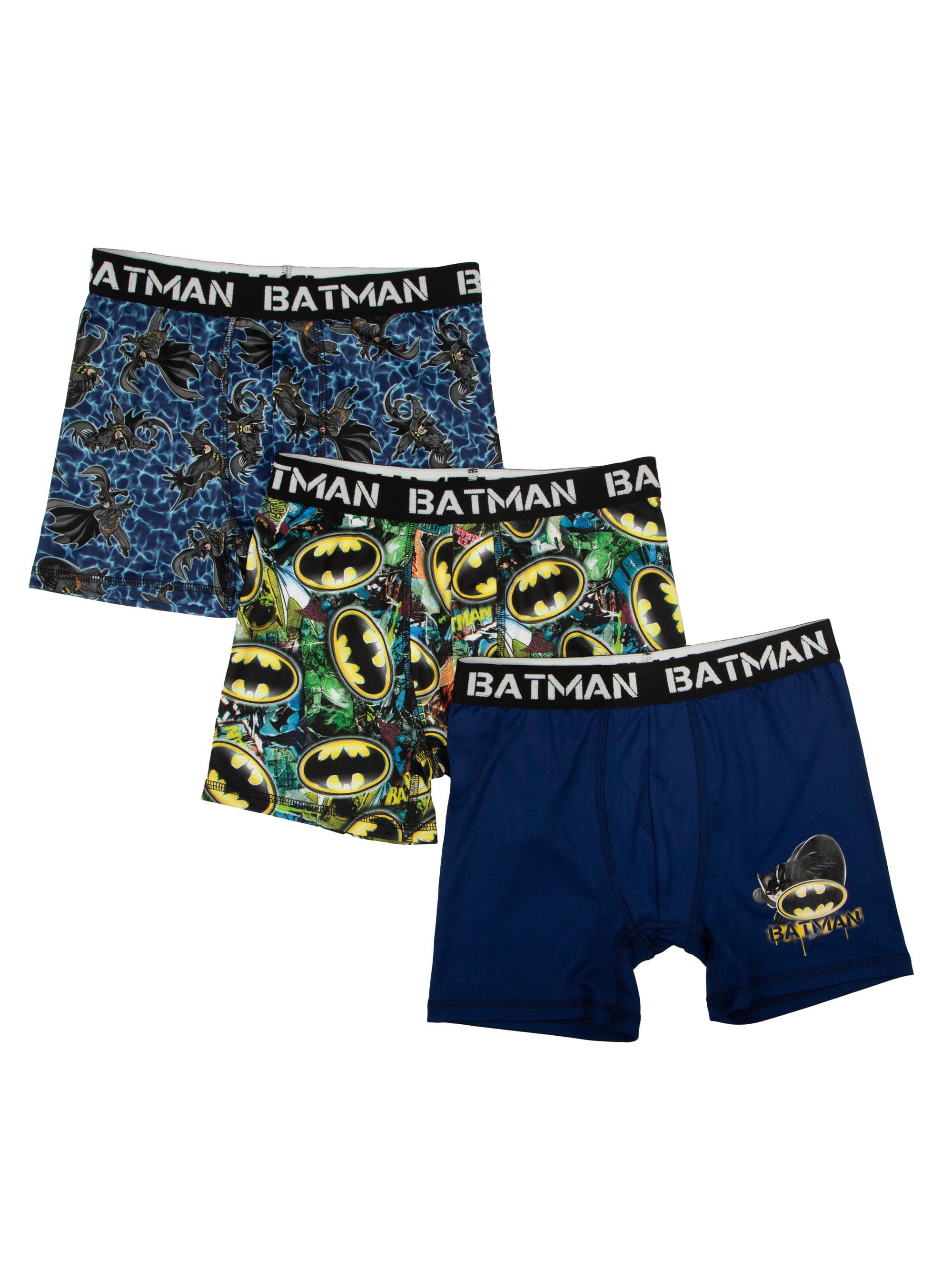 Batman Poly Boxer Briefs, 3 Pack (Big Boys & Little Boys)