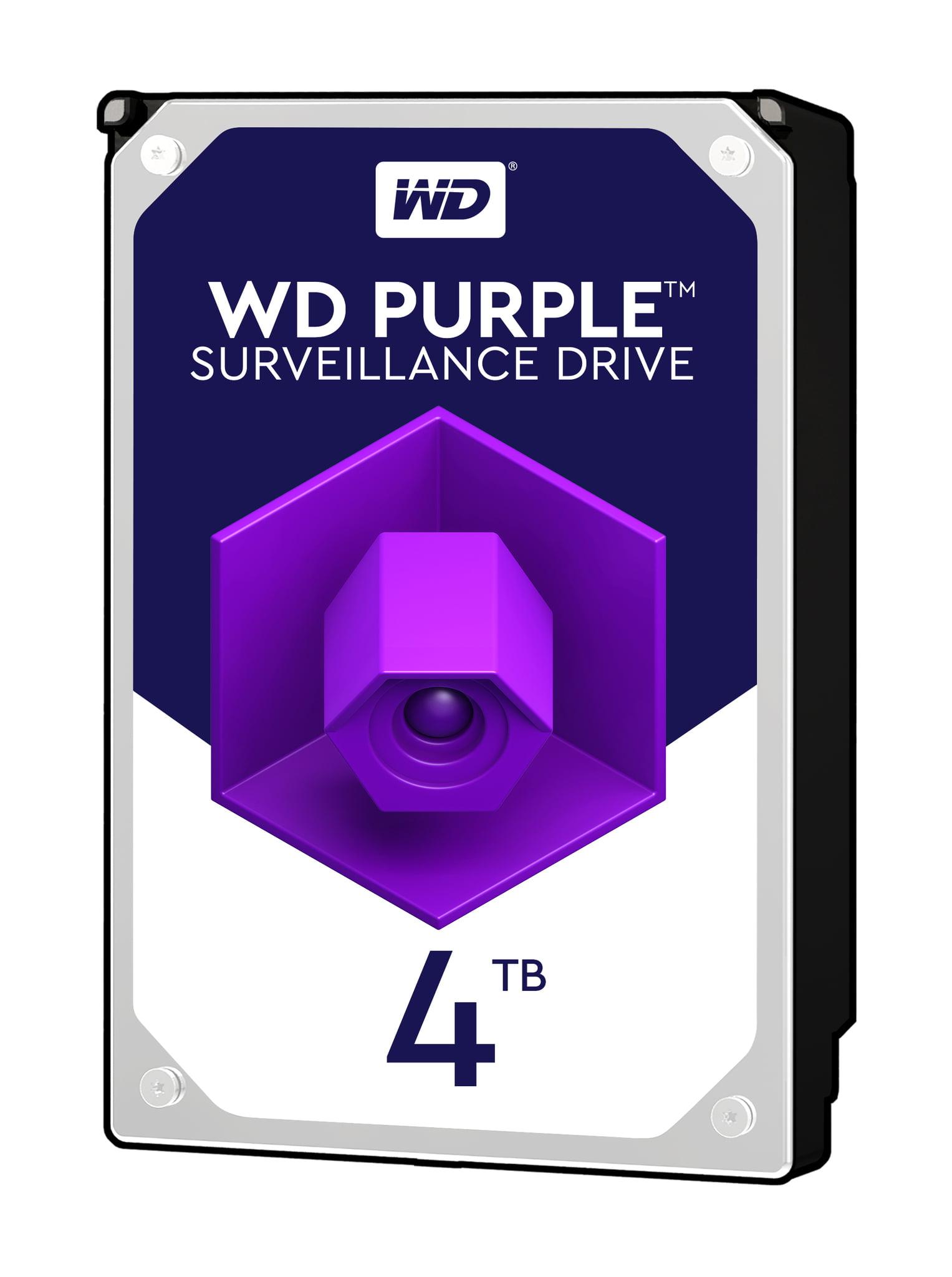 WD Purple 4TB Surveillance Hard Drive 5400 RPM Class SATA 6 Gb//s WD40PURZ 3.5 64 MB Cache