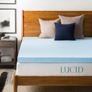 "Lucid 3"" Ultra Plush Ventilated Gel Memory Foam Mattress Topper"
