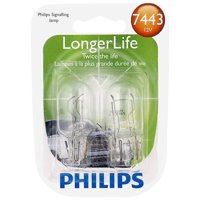 Philips Longerlife Miniature 7443Ll, Clear, Push Type, Always Change In Pairs!