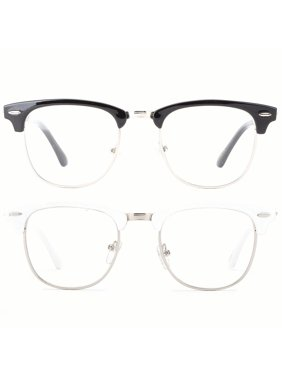 6e99a7bf37b6f Product Image Newbee Fashion - Vintage Oval Stylish Retro Celebrity Classic  Half Frame High Fashion Clear Lens Glasses