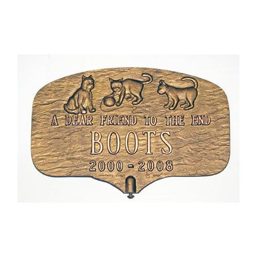 Montague Metal Products Inc. Cat Memorial Plaque