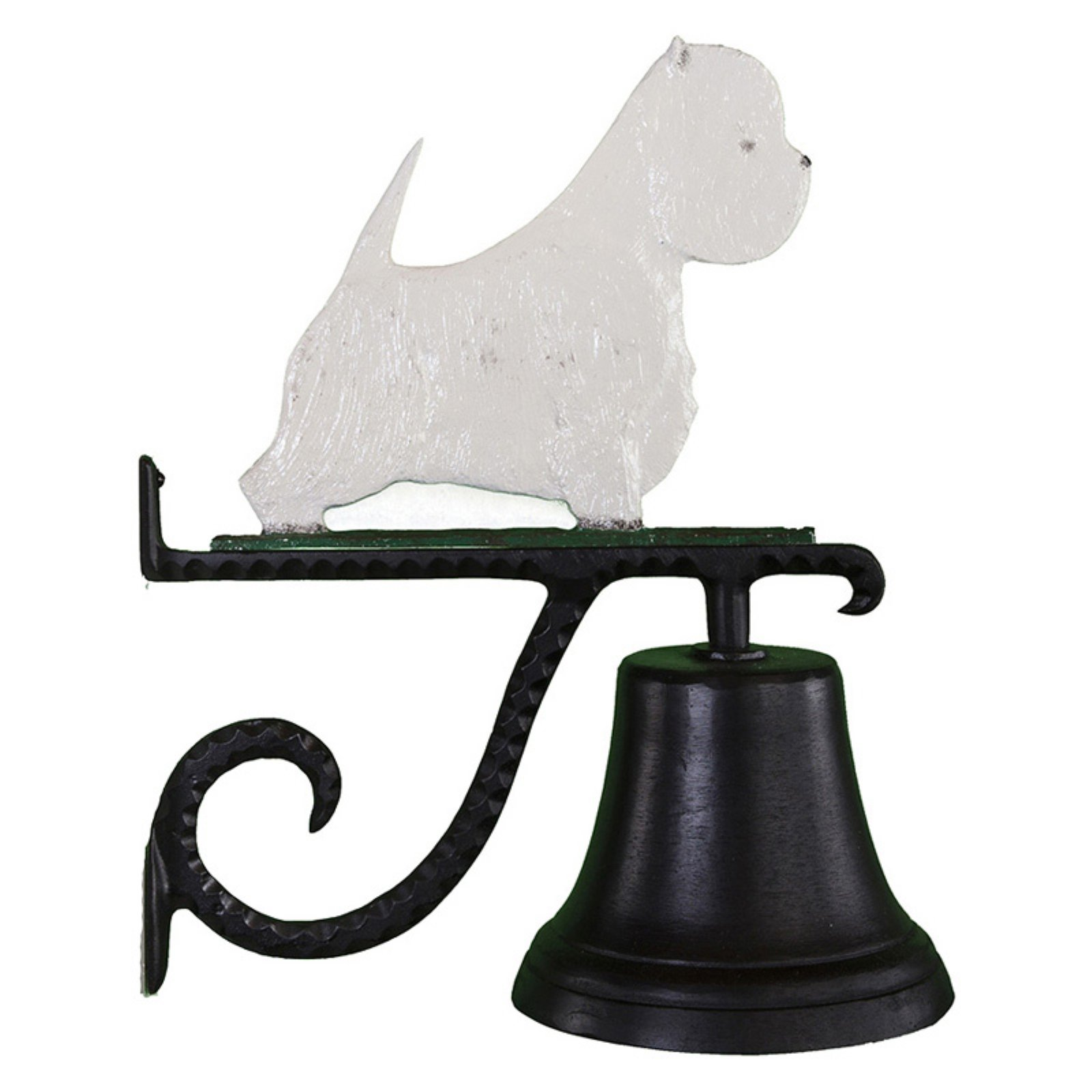 Cast Bell with Color West Highland White Terrier