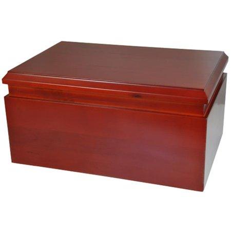 Memorial Gallery M-016 cherry Cherry Finish Chest Wood Box Urn