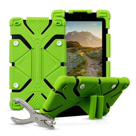 Universal 8 inch Tablet Case Flip Painted Leather Folio Stand Cover For iPad mini / Samsung Tab 8inch / Amazon Fire HD 8in Green ()