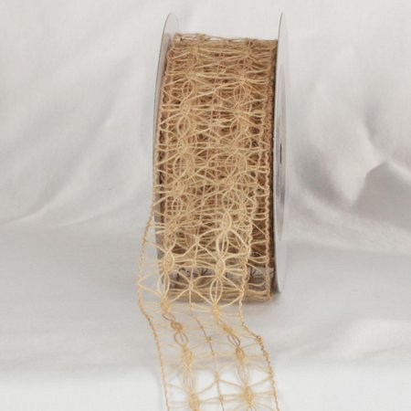 Natural Jute Woven Netting Wired Craft Ribbon 2