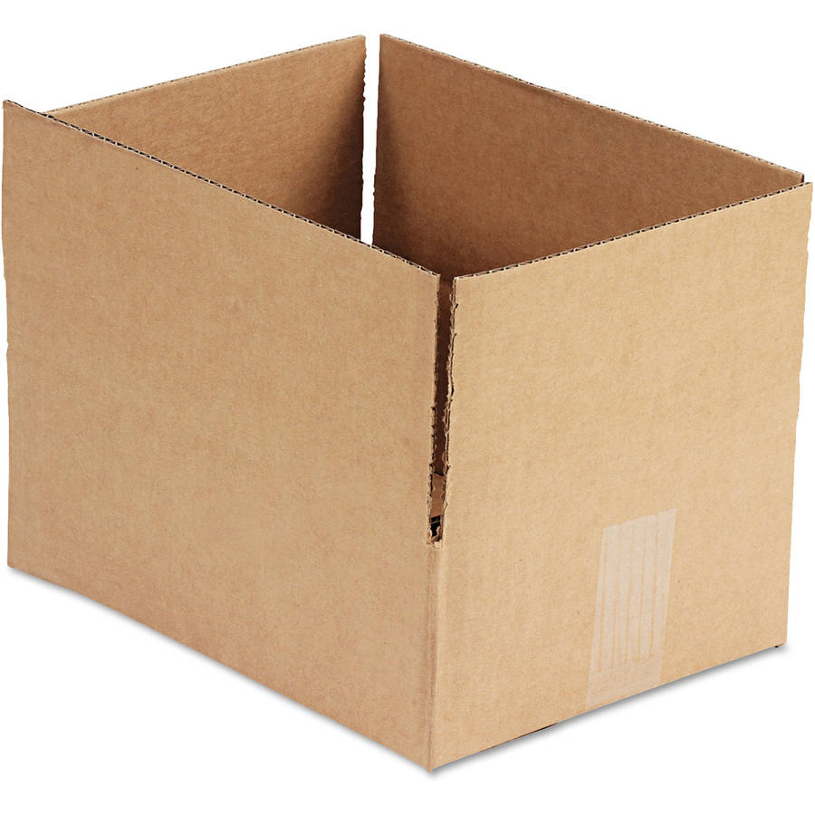 "General Supply Brown Corrugated - Fixed-Depth Shipping Boxes, 12l x 9""W x 4""H, 25/Bundle"