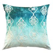 A1 Home Collections Hand Crafted Beaded Ombre Decorative Throw Pillow
