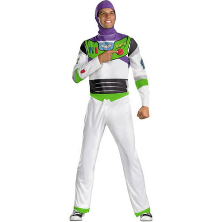 Toy Story Mens' Buzz Lightyear Classic Adult Costume](Easy 80s Costume Men)