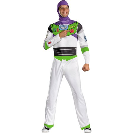 Toy Story Mens' Buzz Lightyear Classic Adult Costume](Buzz Lightyear Deluxe Costume)