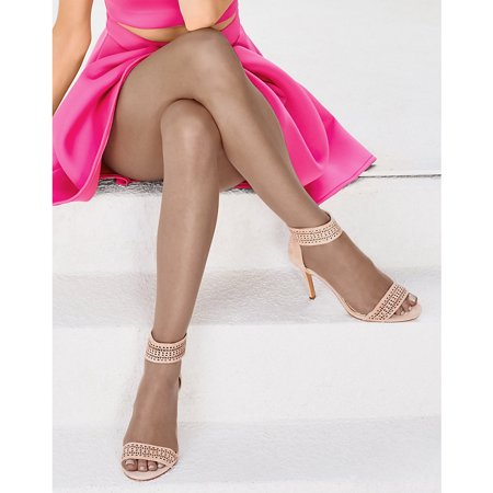 - Silk Reflections Ultra Sheer Toeless Control Top Pantyhose