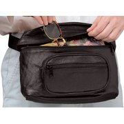 Oversized Leather Waist Bag