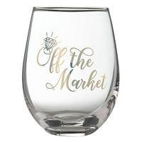 "Lillian Rose ""Off the Market"" Stemless Wine Glass"
