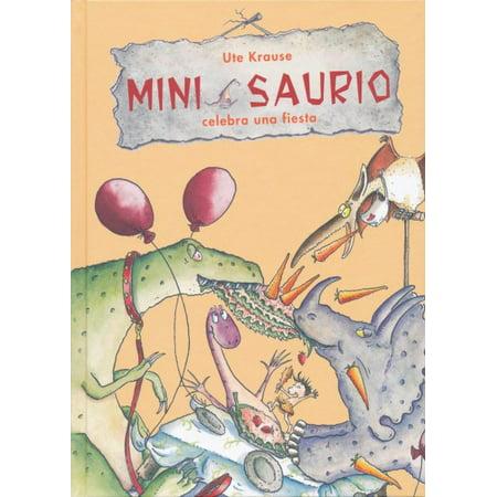 Mini Saurio Celebra Una Fiesta