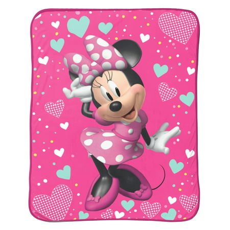 "Disney Minnie Mouse Kids Bedding 46"" x 60"" Plush Throw, 1 Each"