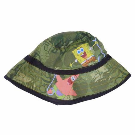 Camouflage Boys Bucket Spongebob & Patrick camo Sun Hat - Spongebob Hat