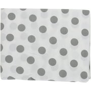 TL Care 100% Cotton Percale Fitted Crib Sheet for Standard Crib and Toddler Mattresses, White with Gray Dot