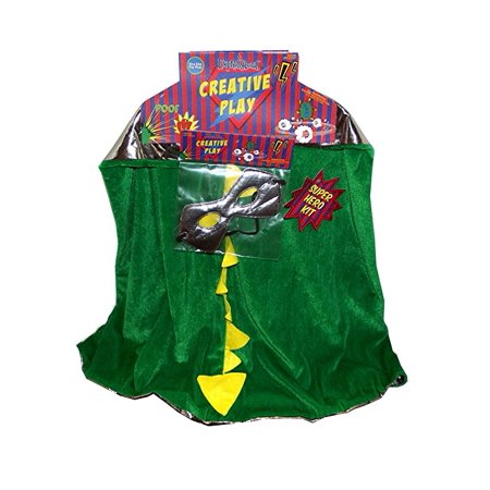Expressions Creative Play Dragon and Knight Reversible Children's Superhero Cape and Mask, One Size - Halloween Expressions