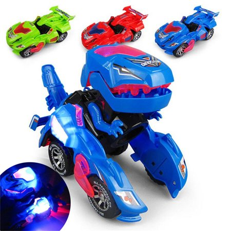 Great Toys For 3 Year Olds (Transforming Dinosaur Led Car, Dinosaur Transformer Car Toy Car Transforms Into Dinosaur with LED Light and Music, Transformer Toys Great Gifts for 3-12 Year Old Boys)