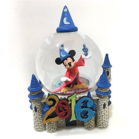 Walt Disney World 2016 Sorcerer Mickey Mouse and Castle Snow Globe Snowglobe NEW - Walt Disney World Halloween Castle