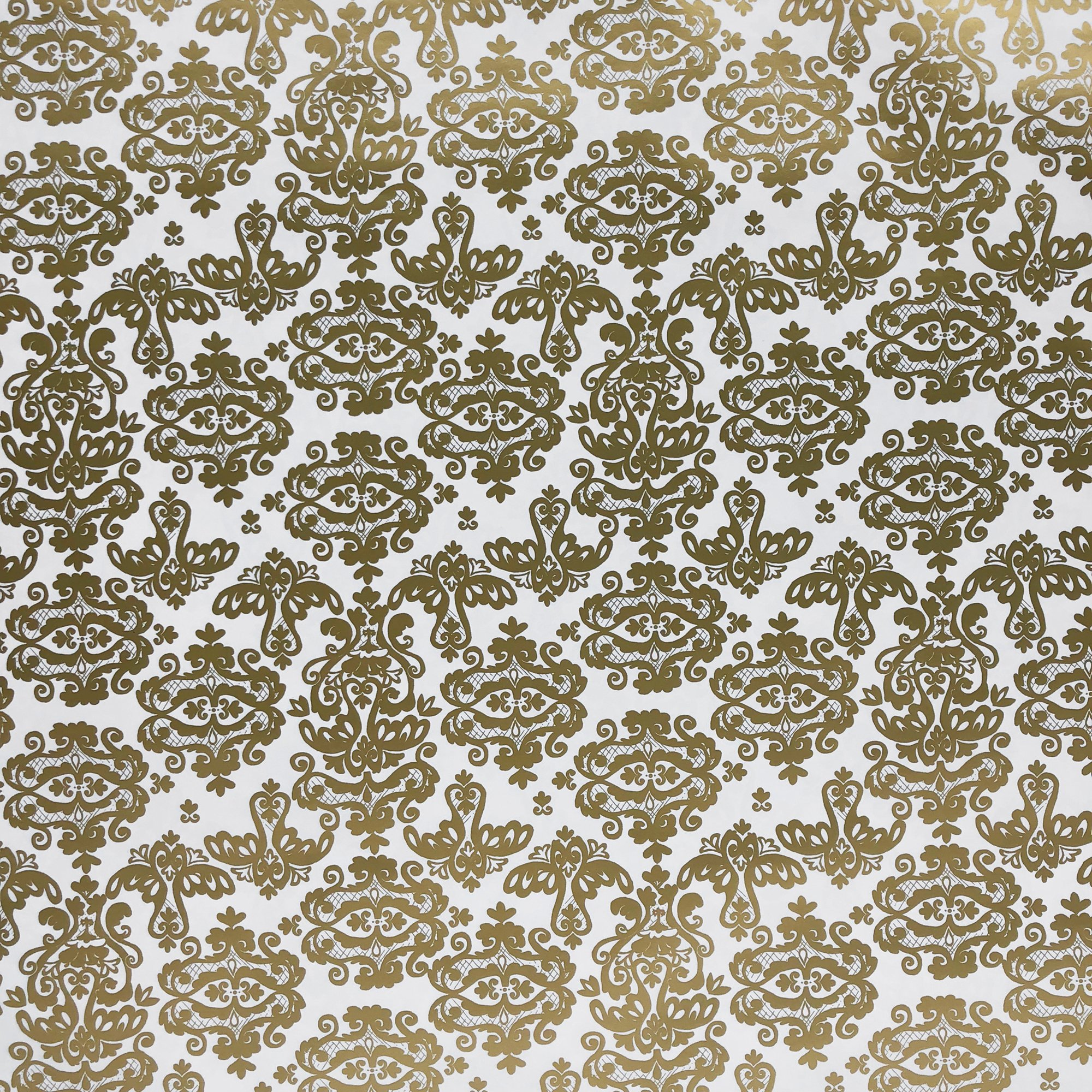 "Jillson & Roberts Gift Wrap, Damask Gold, 5' x 30"" Rolls (8 Pcs)"