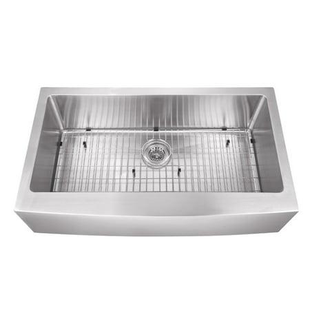 Cahaba Luxury Single Bowl Extra Large Apron Front Farmhouse Stainless Steel Kitchen Sink