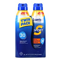 Coppertone Sport Sunscreen Spray SPF 30, Twin Pack (5.5 oz each)
