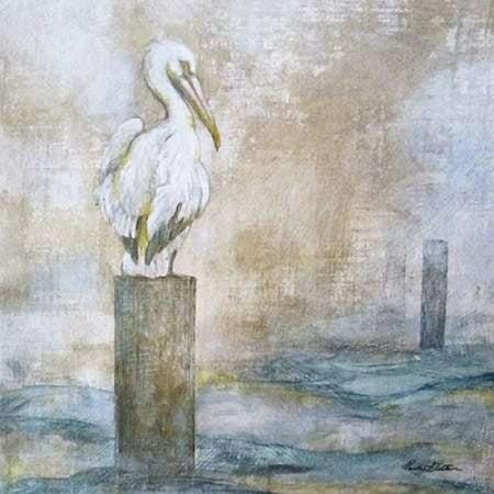 Coastal Birds I Stretched Canvas - Paula Giltner (12 x 12)