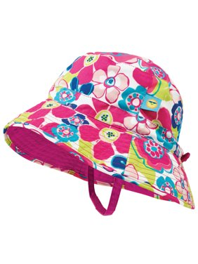 93d968a86d0 Product Image Sun Smarties Pink and Blue Adjustable and Reversible Baby  Girl Sun Hat - Floral Design Reverses