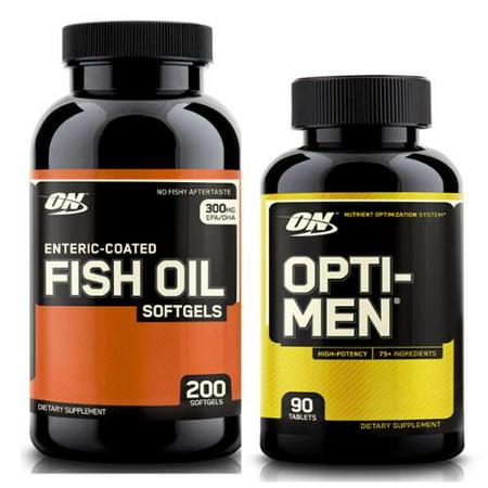Optimum nutrition opti men 90 multivitamin caps 200 for Multivitamin with fish oil
