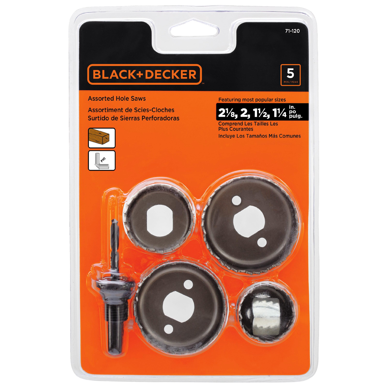 Black & Decker 71-120 Hole Saw Set, 5PK by Stanley Black & Decker