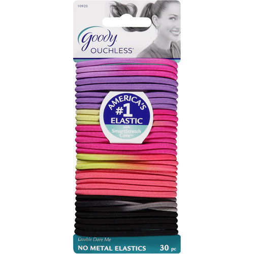 Goody Ouchless No Metal Elastics, Double Dare Me, 30 count