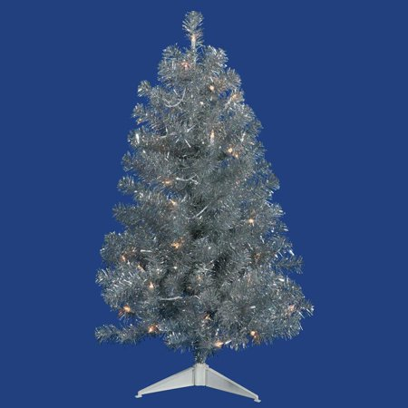 Vickerman 3 Silver Artificial Christmas Tree with 50 Clear Lights