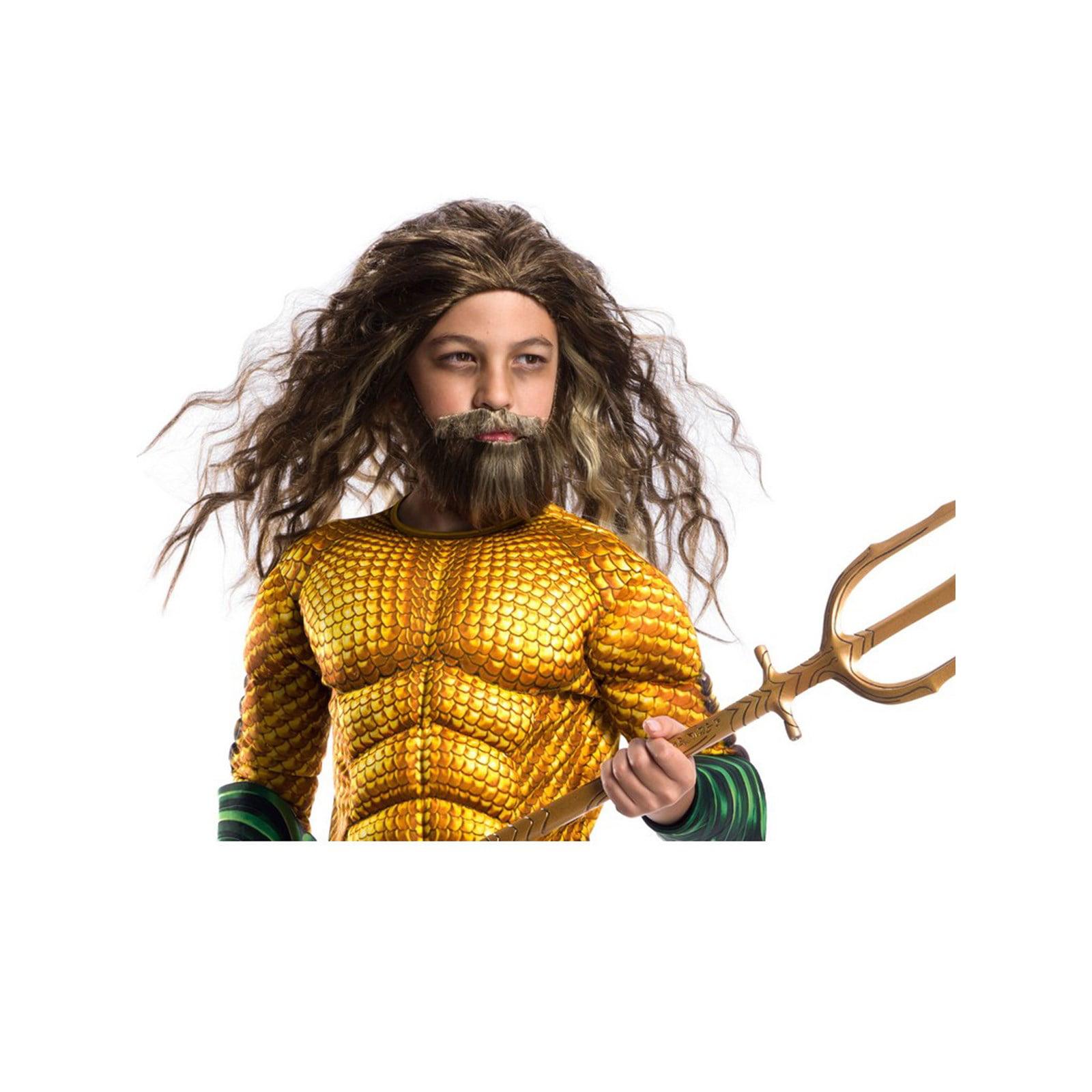 Halloween Aquaman Movie Kids Aquaman Beard and Wig Set