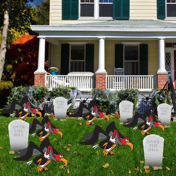 Birthday Yard Cards - Over The Hill with Buzzards and Tombstones Yard Decoration