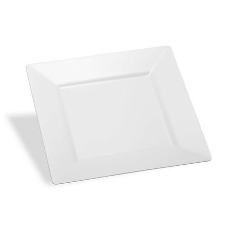 Host & Porter White Plastic Dessert Plates, 6