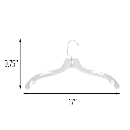 Honey Can Do Plastic Clothes Hanger, Clear (Pack of 4)
