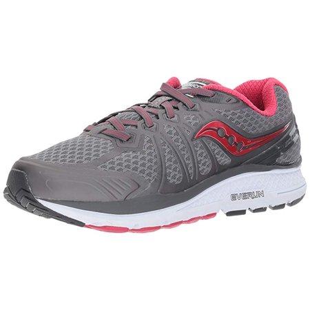 3f6df14d86 Saucony Women's Echelon 6 Running Shoe, Grey/Pink, 10 W US