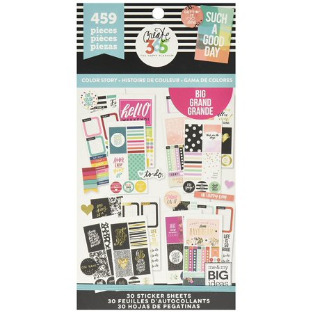 January Craft Ideas (PPSV-13 Create 365 The Happy Planner Sticker Value Pack Planner - BIG Color Story - 459 Stickers, 459 stickers By Me & My Big Ideas Ship from)