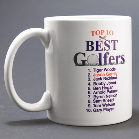 Personalized top 10 best male golfers coffee mug 11 oz Top 10 coffee mugs