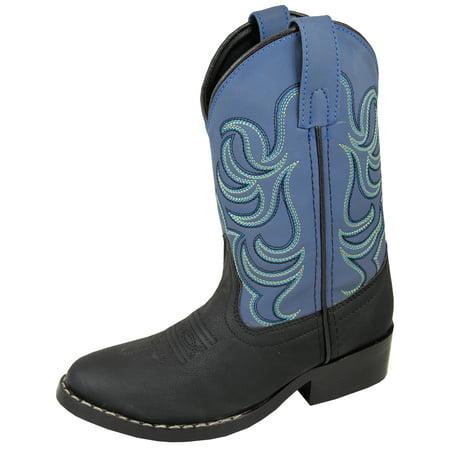 Cowboy Boots For Boys (Smoky Mountain Children Boys Black/Blue Monterey Western Cowboy)