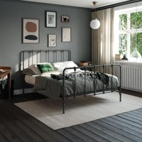 Mainstays Farmhouse Metal Bed, Multiple Colors and Sizes